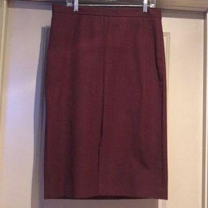 Banana Republic burgundy skirt